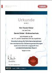 Urkunde - ABUS LKA-Grundschulung