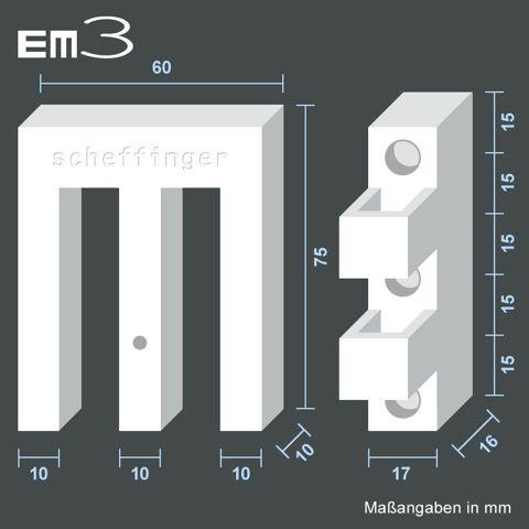 EM3 Riegel Maße