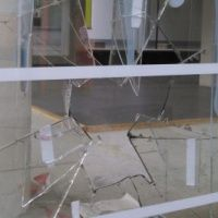 Glasbruch ohne Sicherheitsfolie