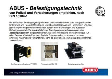 ABUS - DIN 18104-1 Befestigungstechnik