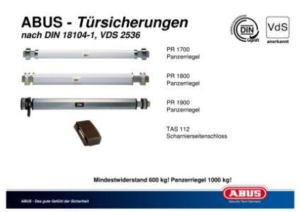 ABUS - DIN 18104-1 Türsicherungen