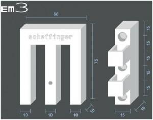 Maße Scheffinger EM3-Riegel