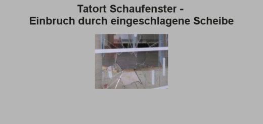 Einbruchschutz-Schaufenster